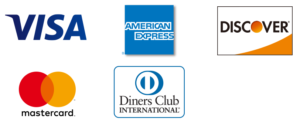 VISA・mastercard・AMERICANEXPRESS・Diners Club・DISCOVERCARD